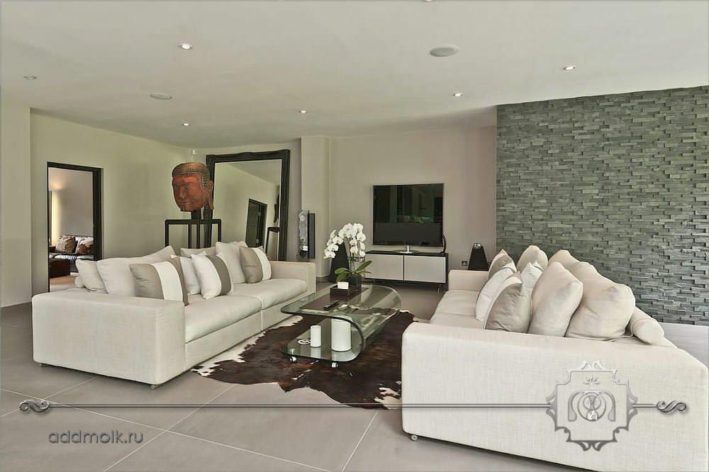 Дизайн гостиной в этническом минимализме