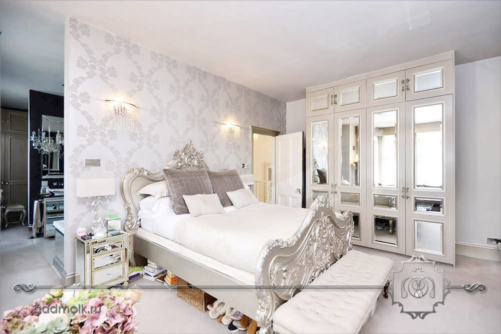Дизайн спальни коричневый
