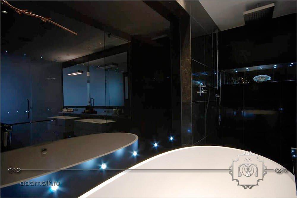Дизайн современного санузла с ванной