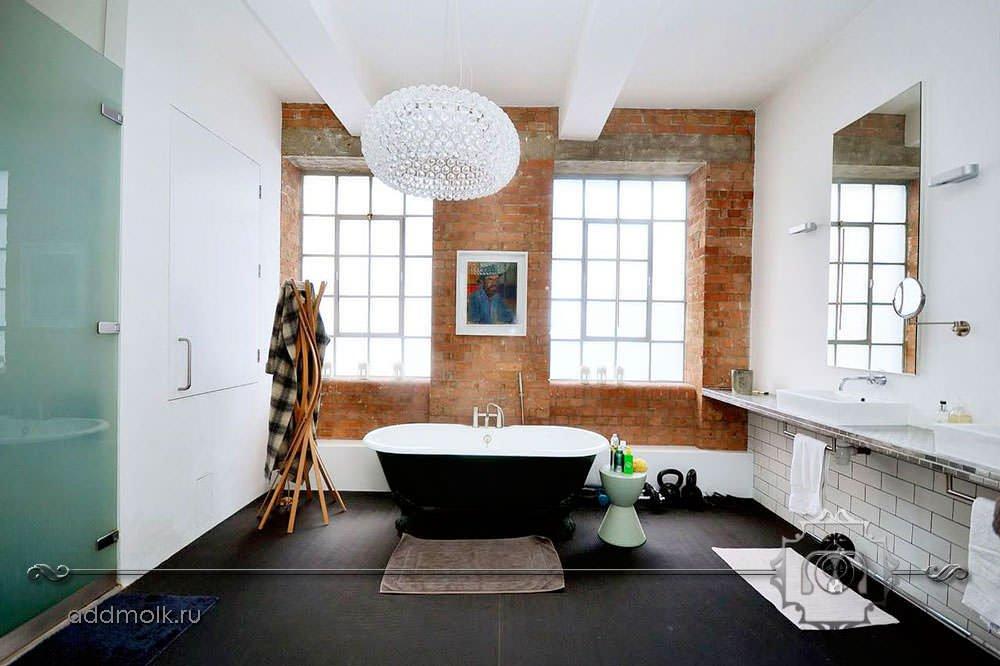 Дизайн ванной синий
