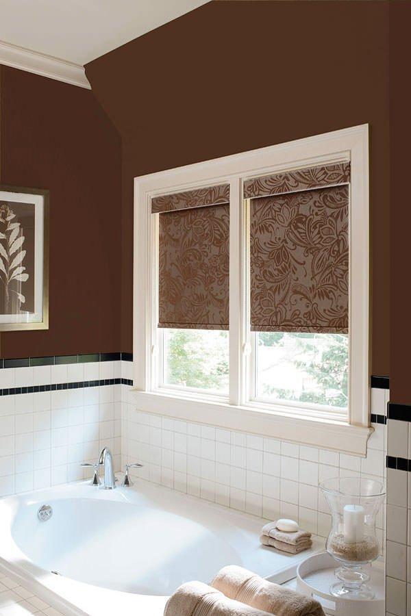 рулонные шторы в ванной