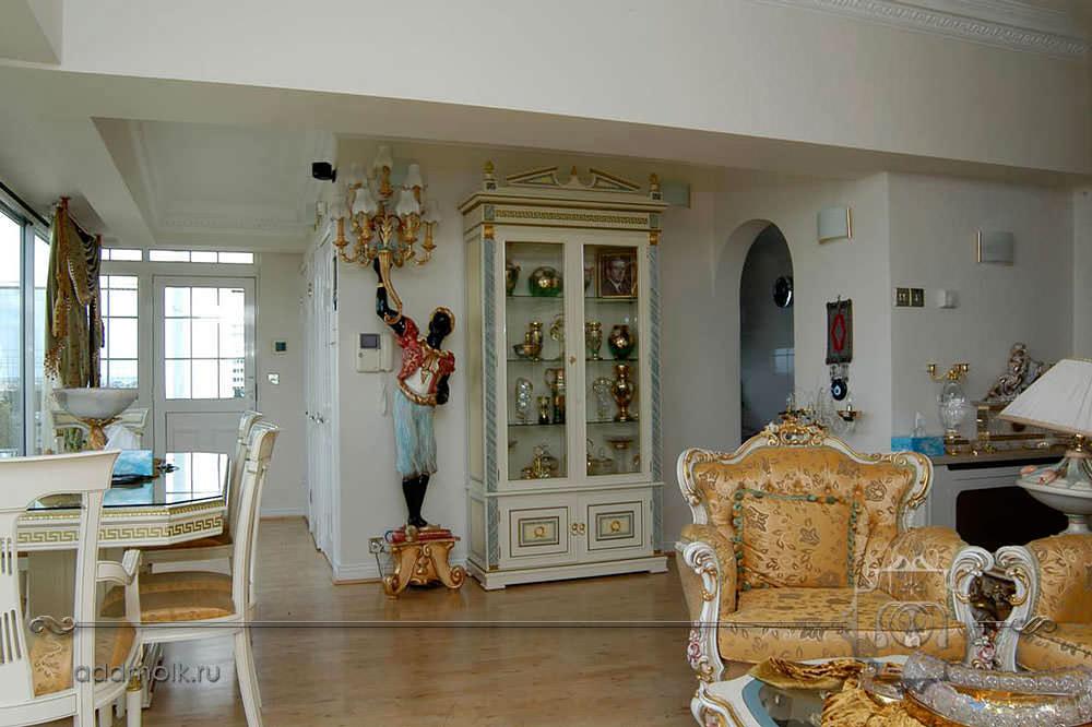 гостиная в традиционном классическом
