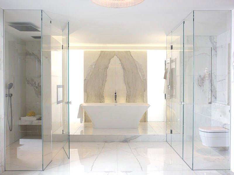 отелка ванной мрамором