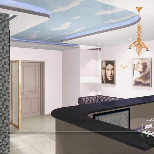 3d дизайн интерьера салона красоты