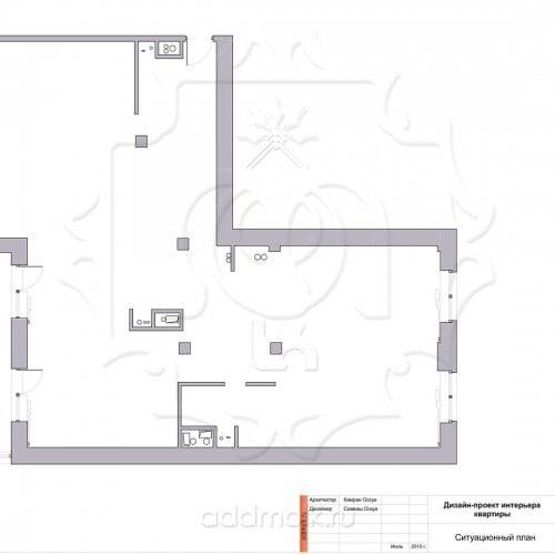 чертежи дизайна современной квартиры