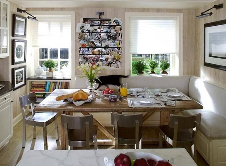 классический угловой диван в кухню