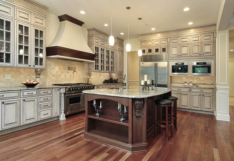 водостойкий ламинат в кухни